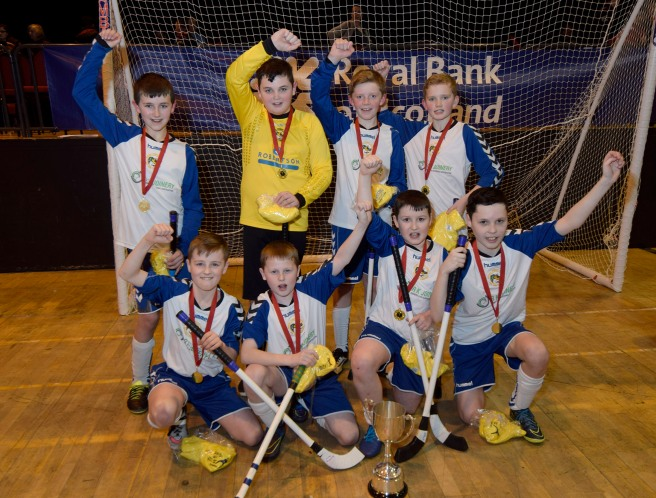 JUNIOR SHINTY WINNERS 28/2/16 The Portree team who took the trophy in the Nevis Centre. PICTURE IAIN FERGUSON THE WRITE IMAGE