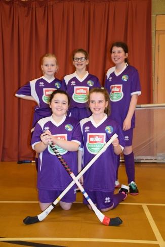 Girls Shinty team purple